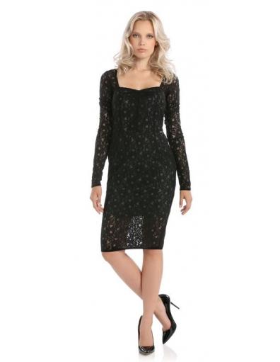 VEDETTE DRESS - Zwart - Guess - Jurken