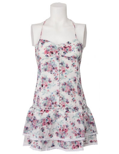 Marinas - Multi bloemen - Wit - Pepe Jeans - Jurken