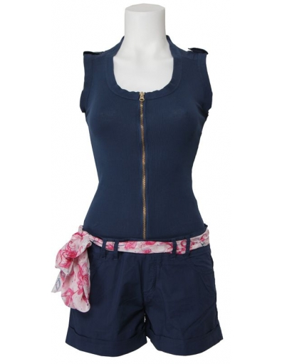 - korte broek jumpsuit - Blauw - Amy Gee - Jumpsuits